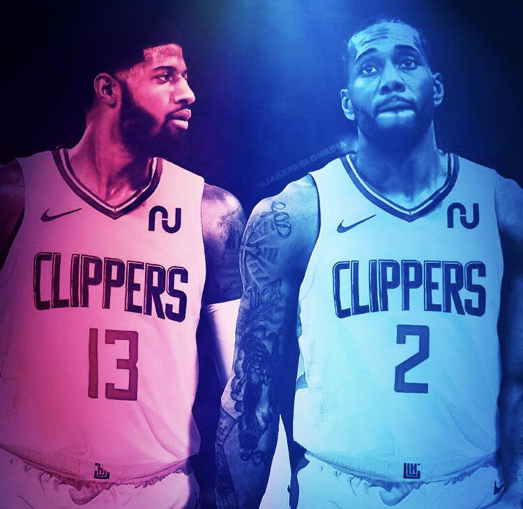 Paul George and Kawhi Leonard on the Clippers