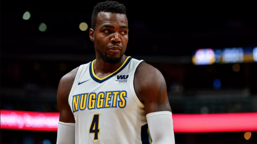 Paul Millsap in a Nuggets jersey
