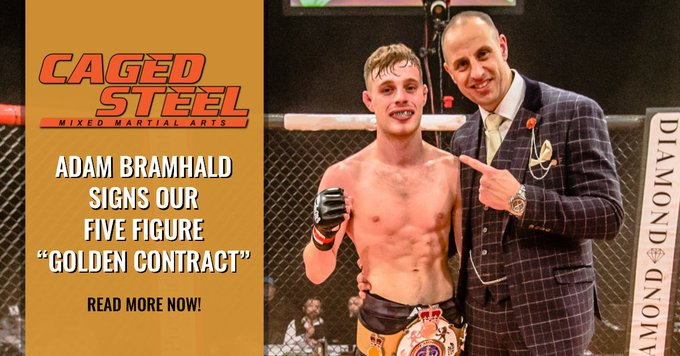 Caged Steel Issue a Five Figure Contract to Pro-MMA Fighter Adam Bramhald