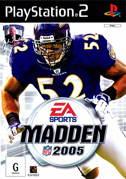 Madden 2005 Cover featuring Ray Lewis