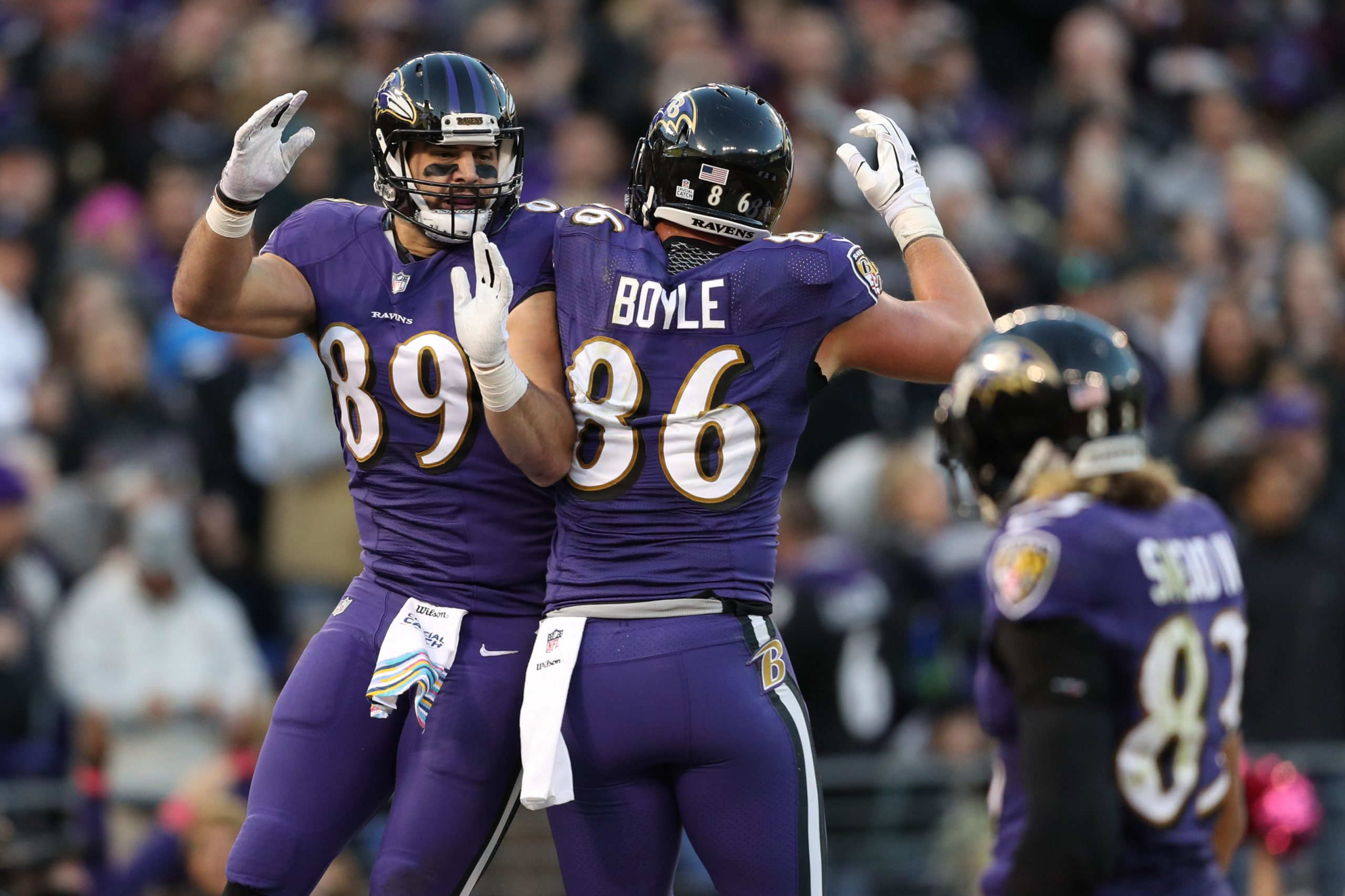 Ravens tight end's Nick Boyle and Mark Andrews