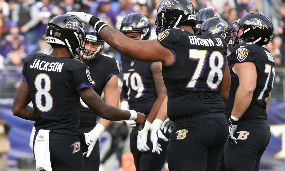 Offensive Line of the Baltimore Ravens