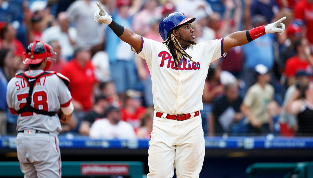 Maikol Franco playing for the Phillies.