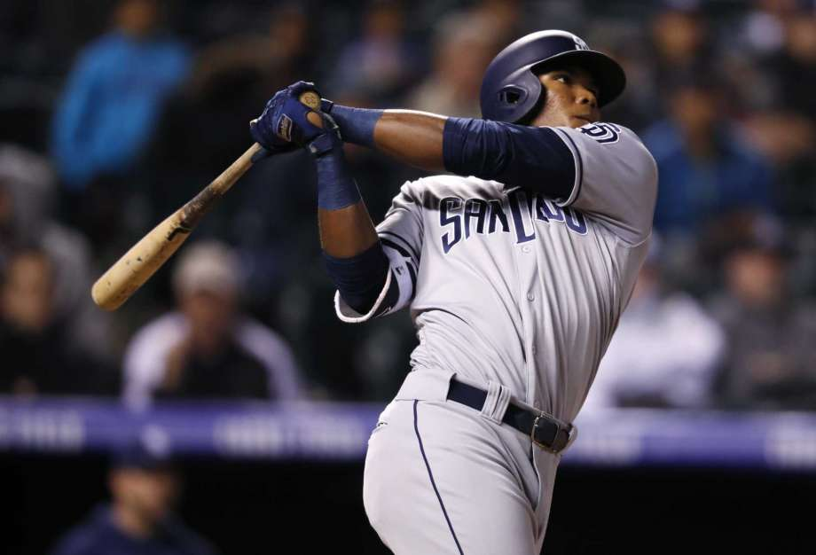 Franchy Cordero hitting for the Padres.