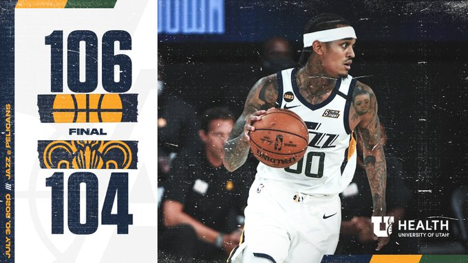 The Jazz get a big win to open the bubble basketball