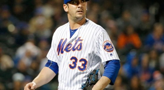 Matt Harvey pitching with Mets.