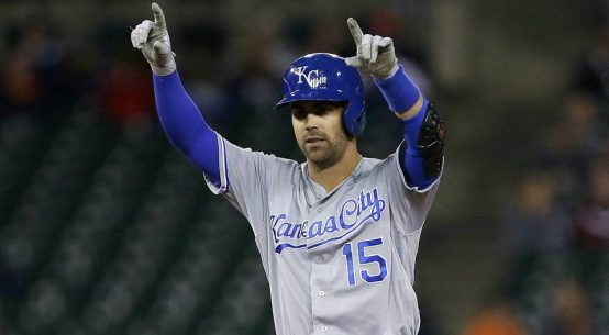 Whit Merrifield celebrating.