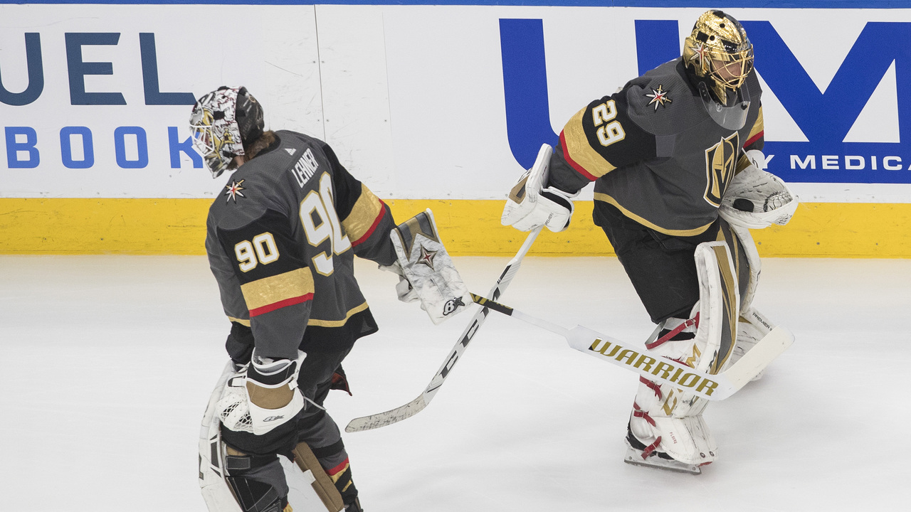 The Knights have a Goaltending decision to make. THE CANADIAN PRESS/Jason Franson